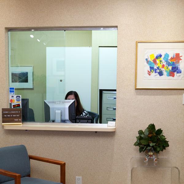 Image of Reception Window at Herbert Hochman, MD Office